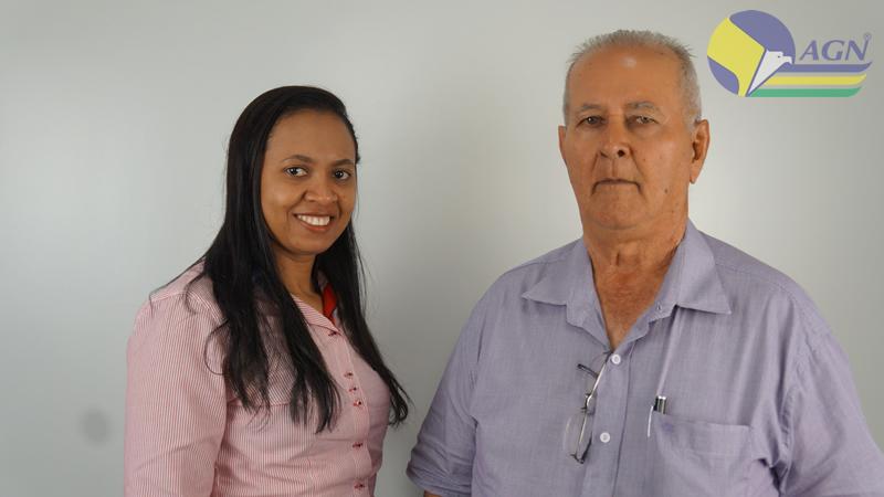 Sr. Anésio Nogueira ao lado de Ester, que foi a primeira funcionária da AGN - 2018